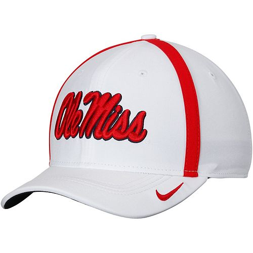 Men's Nike White Ole Miss Rebels 2017 Sideline AeroBill Coaches Performance Adjustable Hat