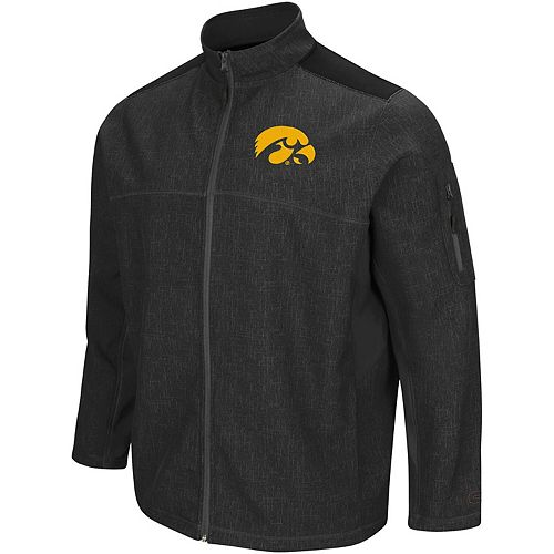 Men's Colosseum Charcoal/Black Iowa Hawkeyes Big & Tall Acceptor Full-Zip Jacket