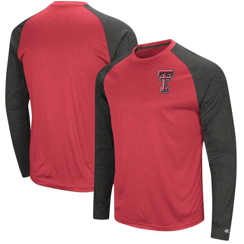 Men's Colosseum Red/Black Texas Tech Red Raiders Lumbergh Raglan Long Sleeve T-Shirt