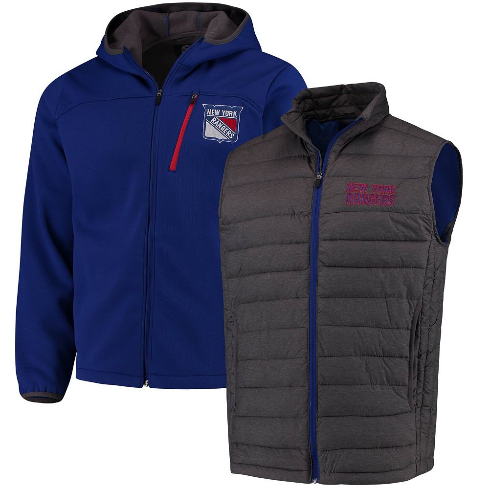 Men's G-III Sports by Carl Banks Blue New York Rangers Cold Front 3-In-1 Jacket