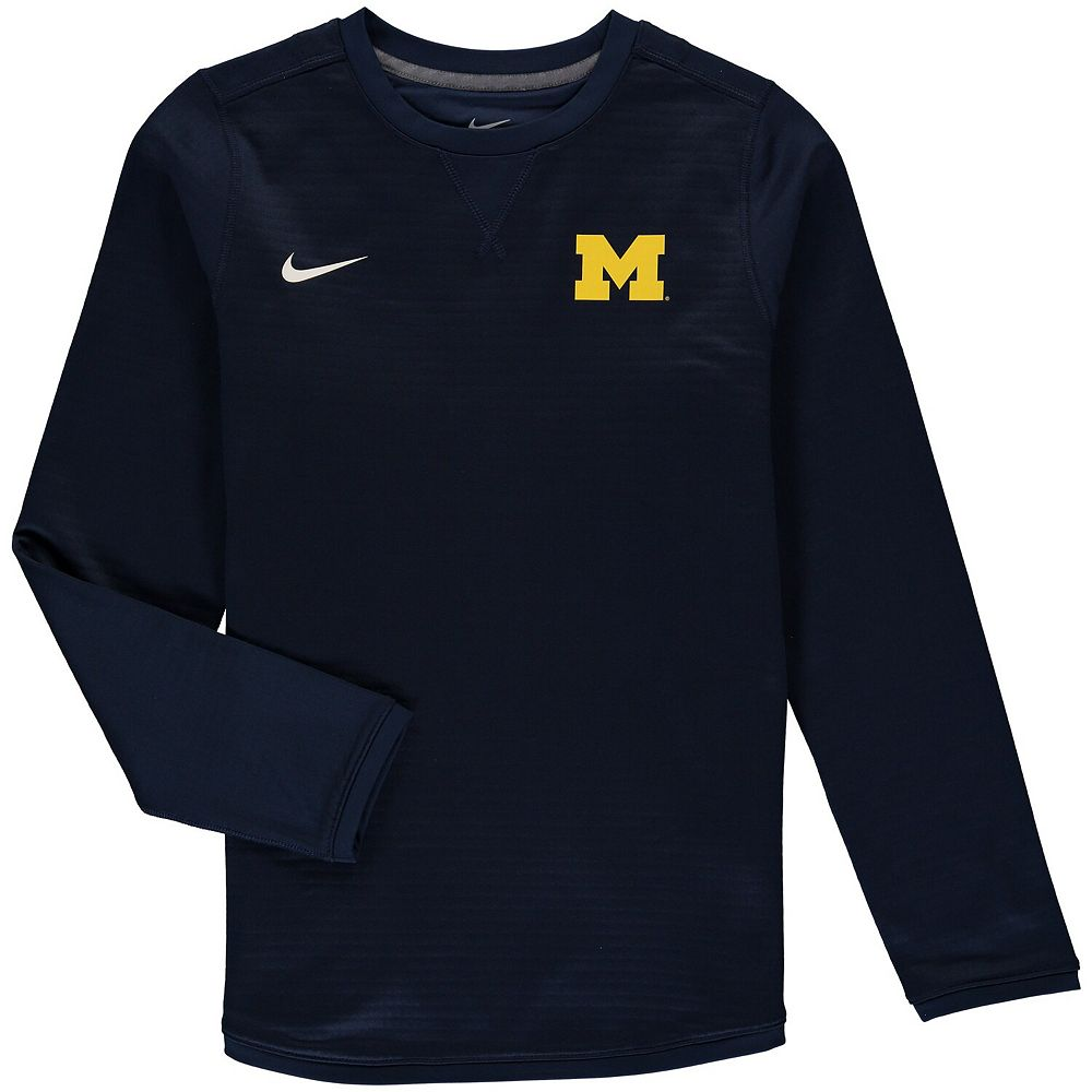 Youth Nike Navy Michigan Wolverines Modern Crew Neck Sweatshirt