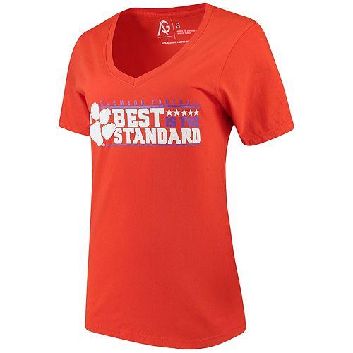 Women's Alta Gracia (Fair Trade) Orange Clemson Tigers Best Is The New Standard V-Neck T-Shirt