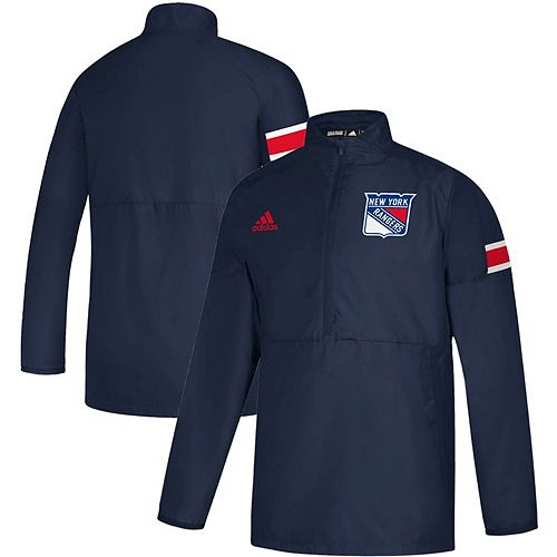 Men's adidas Navy New York Rangers Game Mode Quarter-Zip Pullover Jacket