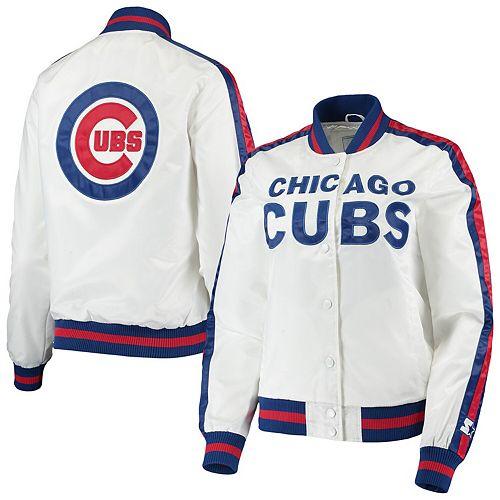 Women's Starter White/Royal Chicago Cubs Hometown Full-Snap Jacket
