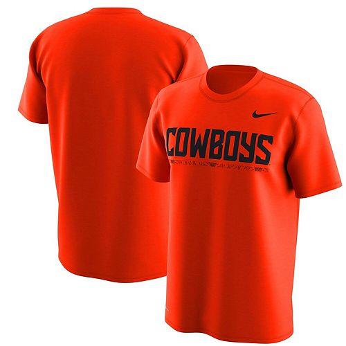 Men's Nike Orange Oklahoma State Cowboys Week Zero Trainer Hook Performance T-Shirt