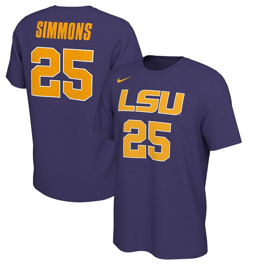 Men's Nike Ben Simmons Purple LSU Tigers Retro Alumni Basketball Jersey T-Shirt