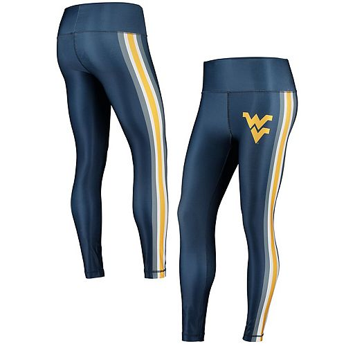 Women's Concepts Sport Navy/Gold West Virginia Mountaineers Java Side Stripe Leggings
