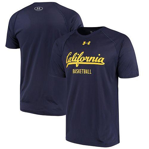 Men's Under Armour Navy Cal Bears Basketball Tech Performance T-Shirt