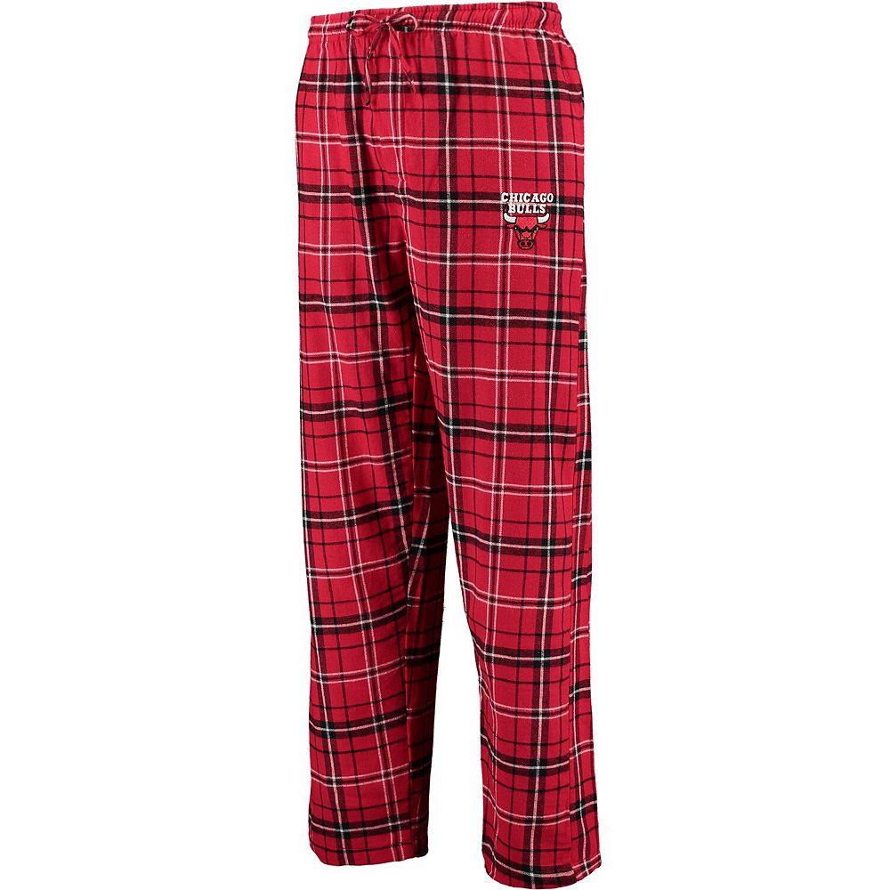 Men's Concepts Sport Red/Black Chicago Bulls Ultimate Tall Sizes Flannel Pants