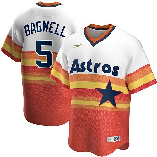 Men's Nike Jeff Bagwell White Houston Astros Home Cooperstown Collection Player Jersey