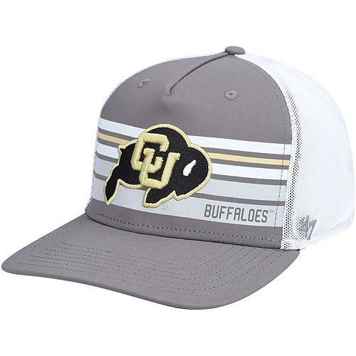 Men's '47 Gray Colorado Buffaloes Primary Logo Altitude Trucker Adjustable Snapback Hat