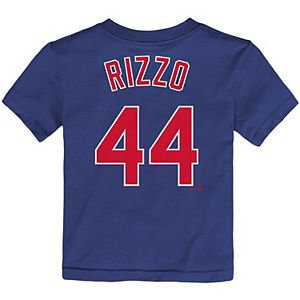 Toddler Nike Anthony Rizzo Royal Chicago Cubs Player Name & Number T-Shirt