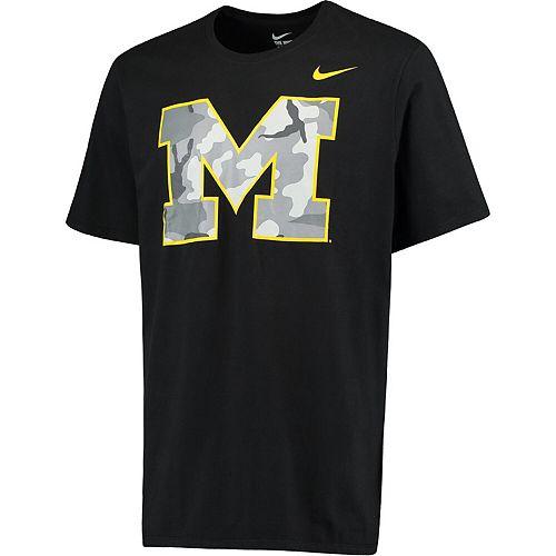 Men's Nike Black Michigan Wolverines Camo Pack T-Shirt