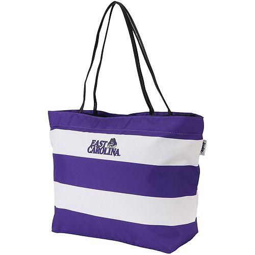 ECU Pirates Game Day Rugby Striped Tote Bag