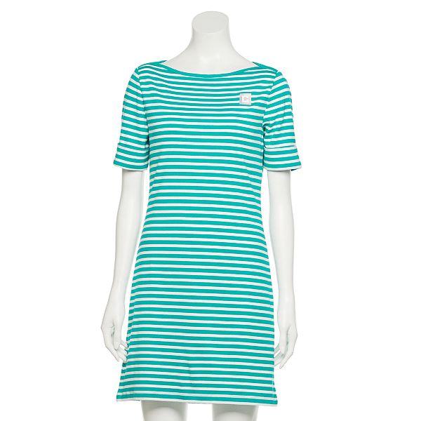Women's Chaps Short Sleeve Striped T-Shirt Dress