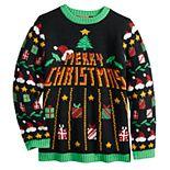 Boys 8-20 33 Degrees Merry Christmas Arcade Ugly Christmas Sweater