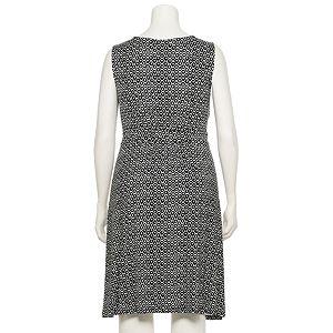 Plus Size Croft & Barrow® Print Shirred Sheath Dress