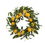 Artificial Lemon Wreath Wall Decor
