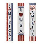 Tall Americana Home Decor 3-piece Set