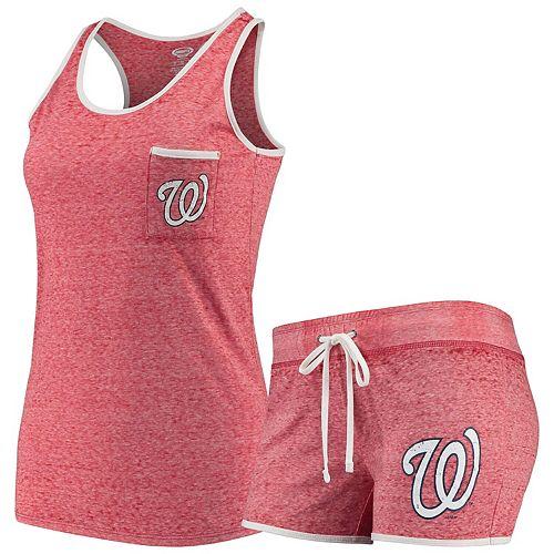 Women's Concepts Sport Red Washington Nationals Squad Tank & Short Set