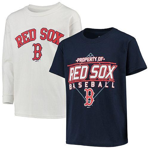 Youth Stitches Navy/White Boston Red Sox T-Shirt Combo Set