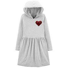 Girls 4-14 Carter's Sequined Heart Jersey Dress