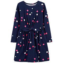 Girls 4-12 Carter's Heart Jersey Dress