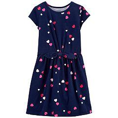 Girls 4-14 Carter's Heart Print Dress