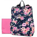 Baby Essentials Floral Backpack Diaper Bag