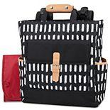 Baby Essentials Geometric Convertible Backpack Diaper Bag