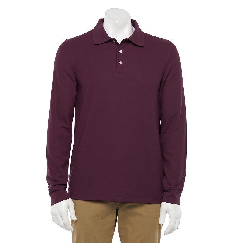 Men's Croft & Barrow Regular-Fit Easy-Care Pique Polo, Size: XXL, Drk Purple