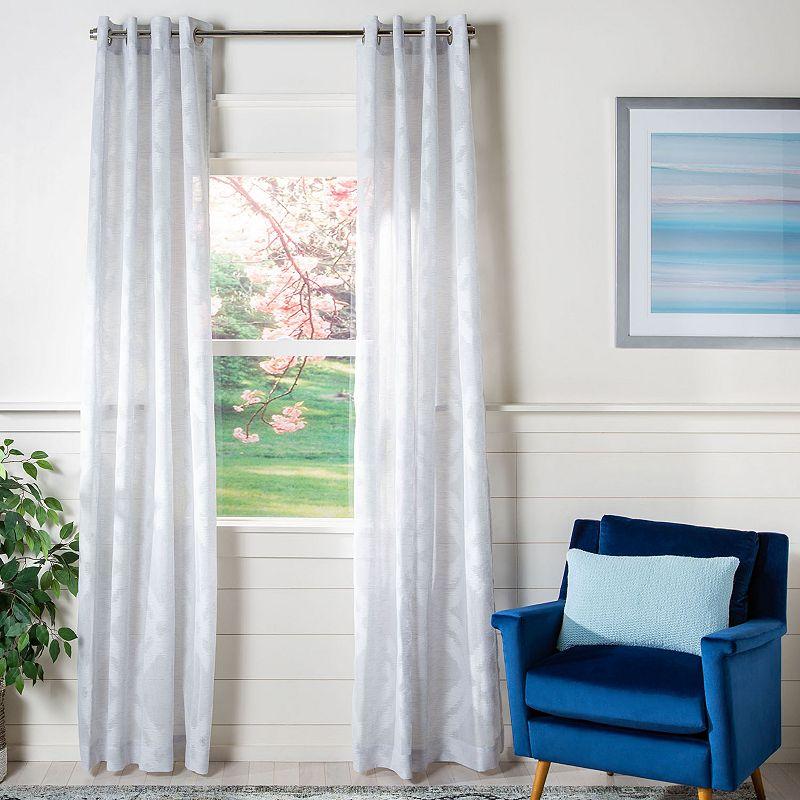 Safavieh Mila 1-Panel Window Curtain, Grey, 52X96