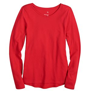 Girls 4-20 & Plus SO® V-Neck Long Sleeve Tee
