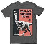 Men's Jurassic World Stand For Dinosaurs Poster Tee
