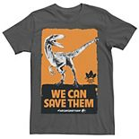 Men's Jurassic World We Can Save Them Poster Tee