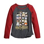Girls 7-16 & Plus Size Harry Potter Chibi Group Graphic Tee