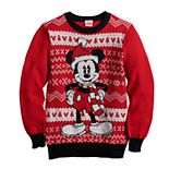 Disney's Mickey Mouse Boys 8-20 Santa Ugly Christmas Sweater