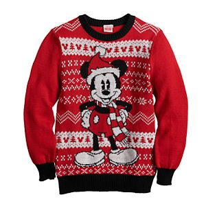 Disney's Mickey Mouse Boys 8-20 Santa Ugly Christmas Sweater