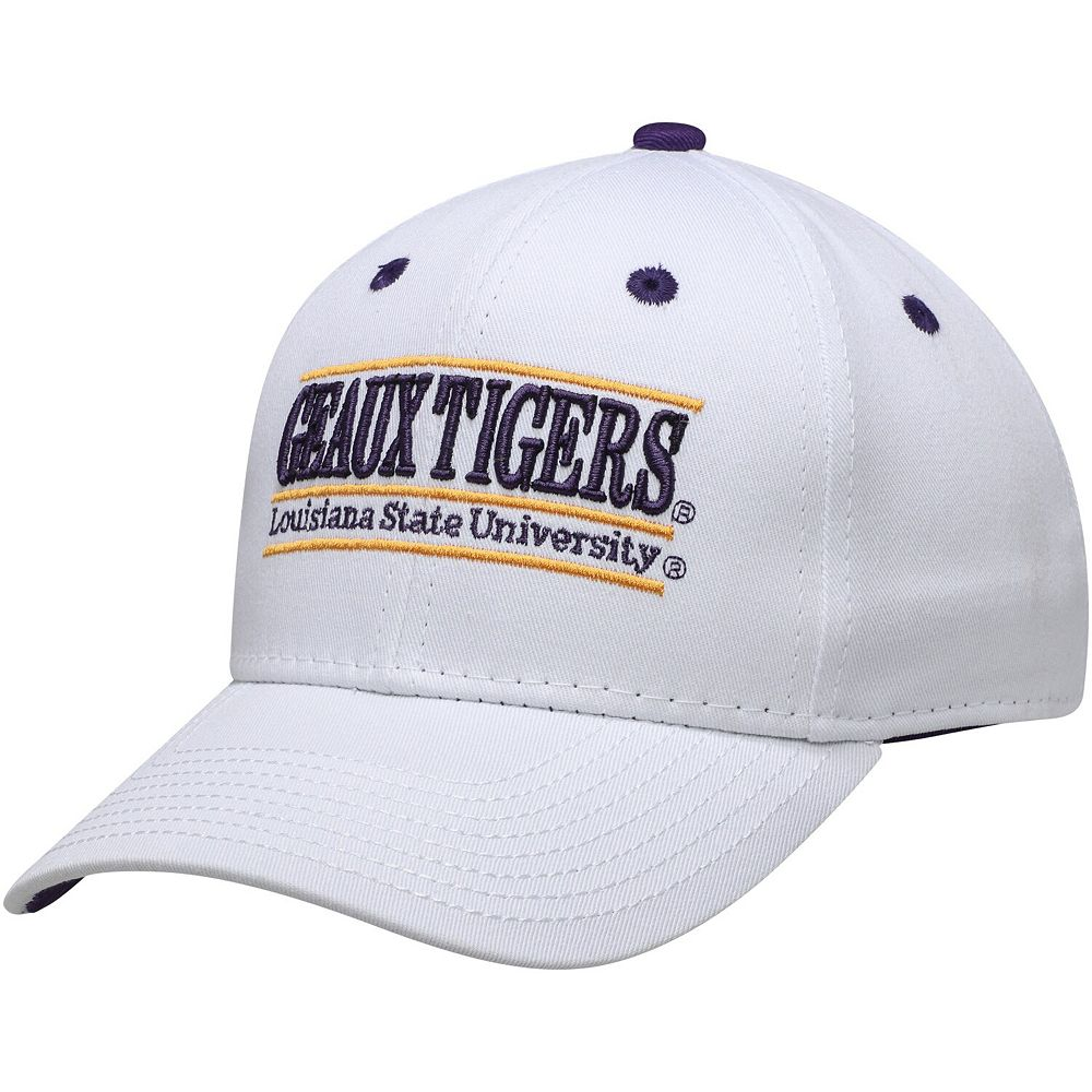 Men's The Game White LSU Tigers Geaux Classic Bar Adjustable Snapback Hat