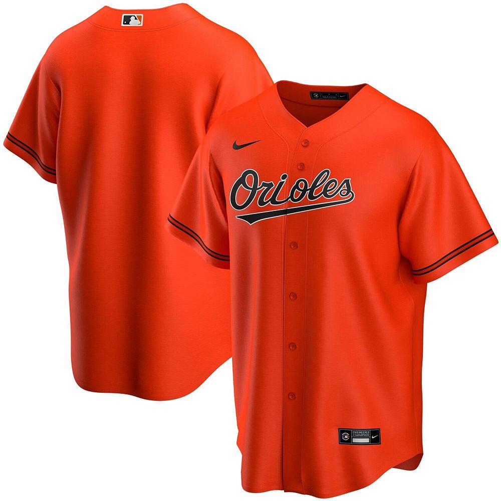 Men's Nike Orange Baltimore Orioles Alternate 2020 Replica Team Jersey