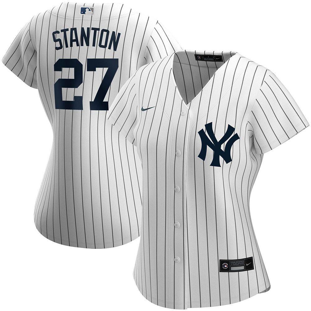 Women's Nike Giancarlo Stanton White New York Yankees Home 2020 Replica Player Jersey
