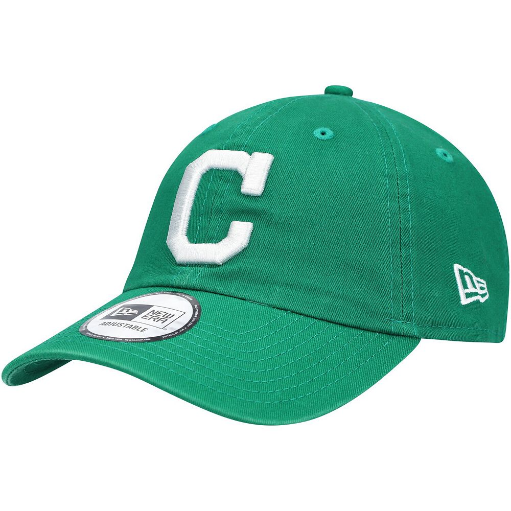 Men's New Era Green Cleveland Indians St. Patrick's Day Casual Classic Adjustable Hat