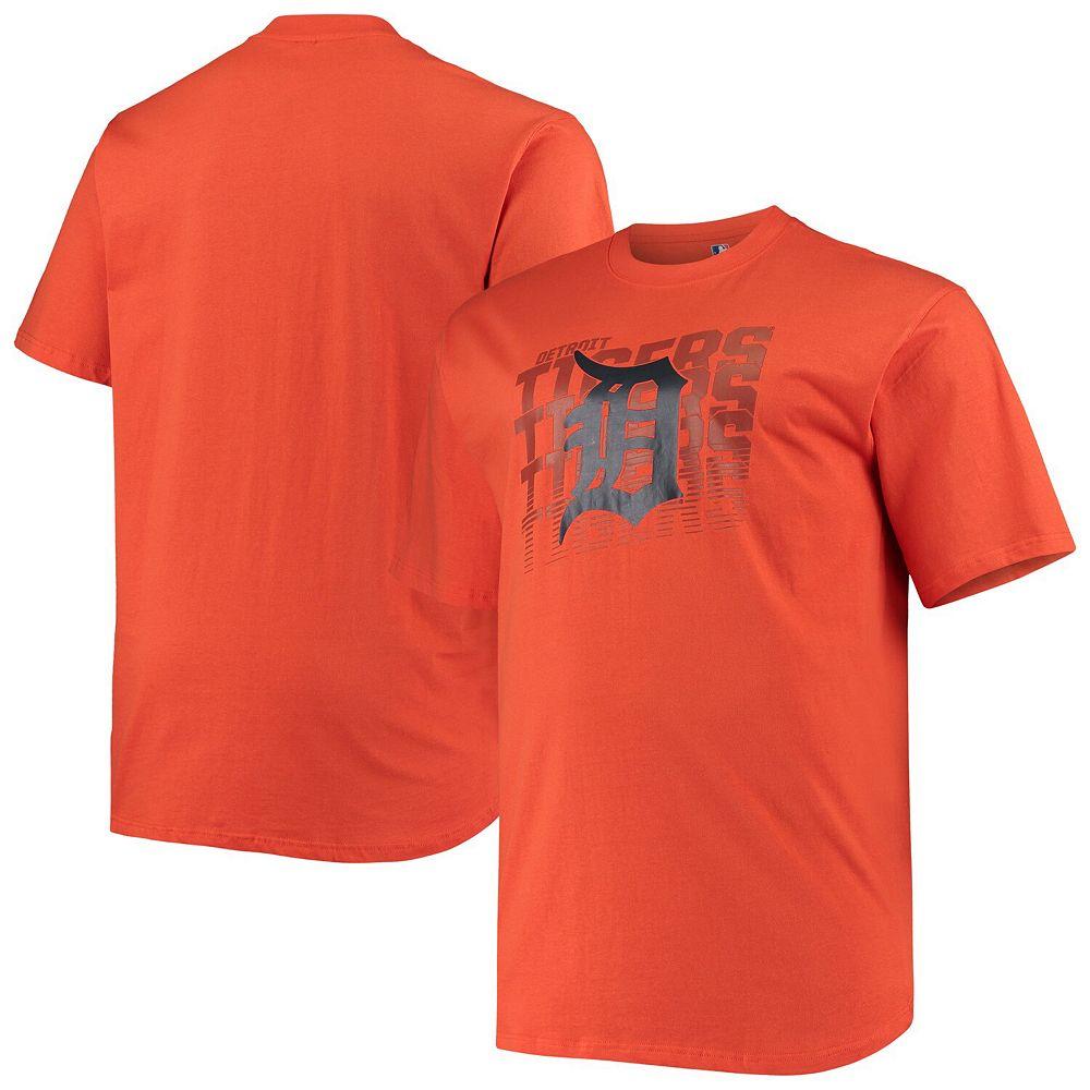 Men's Orange Detroit Tigers Big & Tall Open Opportunity Alternate T-Shirt