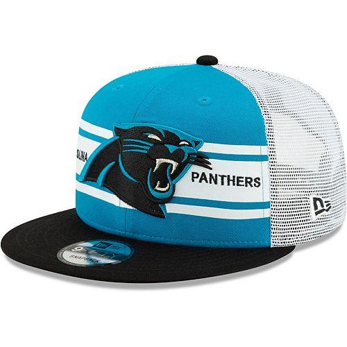 Men's New Era Blue/Black Carolina Panthers Classic 77 Stripe Mesh 9FIFTY Snapback Adjustable Hat
