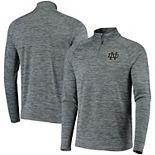 Men's Under Armour Heathered Gray Notre Dame Fighting Irish Performance Quarter-Zip Pullover Jacket