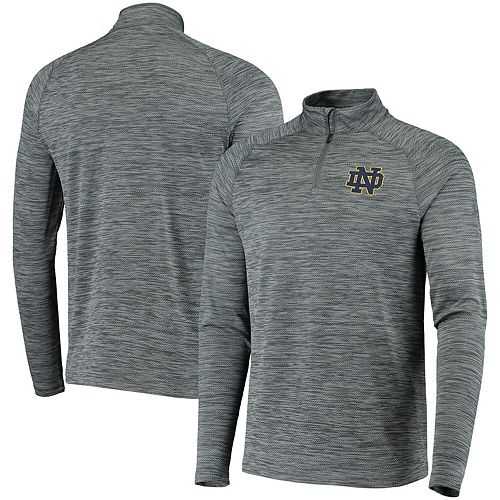 Men's Under Armour Heathered Gray Notre Dame Fighting Irish Performance Quarter-Zip Pullover Jacket