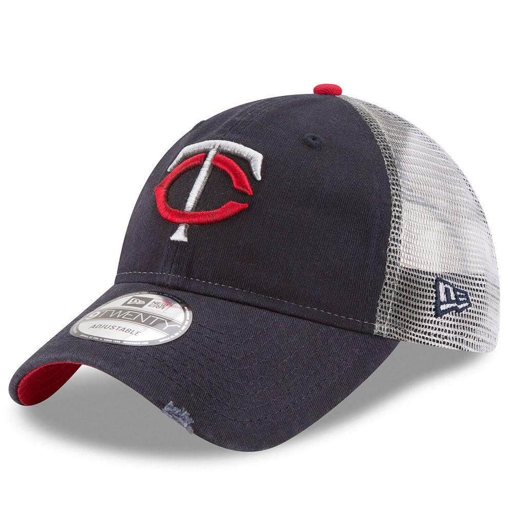 Men's New Era Navy Minnesota Twins Team Rustic 9TWENTY Adjustable Hat