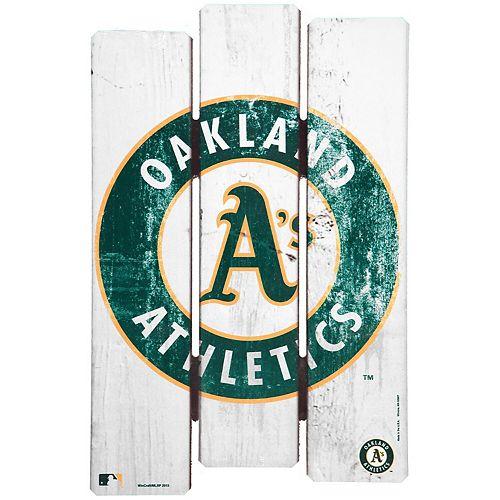 "WinCraft Oakland Athletics 16"" x 11"" Wood Fence Sign"