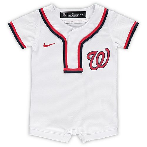 Newborn & Infant Nike White Washington Nationals Official Jersey Romper