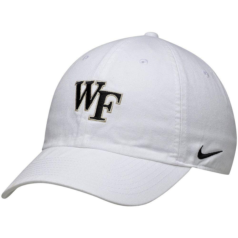 Men's Nike White Wake Forest Demon Deacons Heritage 86 Adjustable Hat